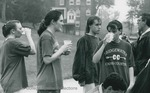 Bridgewater College, Cross Country athletes hydrating, late 1990s by Bridgewater College