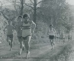 Bridgewater College, The Cross Country team running with Mike Kidd and Steve Gardner at front, 1975 by Bridgewater College
