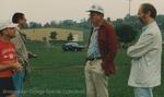 Bridgewater College, Doc Jopson and Paul Kline talking with alumni, 7 Oct 1995 by Bridgewater College