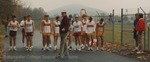 Bridgewater College, Doc Jopson and runners at the Cross Country vs Roanoke meet, 31 Oct 1992 by Bridgewater College
