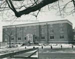 Bridgewater College, Daleville Hall construction nearing completion, April 1963 by Bridgewater College