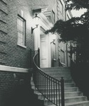 Bridgewater College, Steps of Dillon Hall at dusk, undated by Bridgewater College
