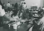 Bridgewater College, Students in the cafeteria in the Kline Campus Center, undated by Bridgewater College