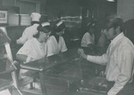 Bridgewater College cafeteria serving line, early 1970s by Bridgewater College