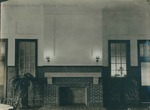 Bridgewater College, Hearth and mantle in the Rebecca Hall dining room, undated by Bridgewater College