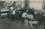 Bridgewater College students in their snack bar, undated by Bridgewater College