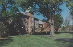 Bridgewater College, Person on walkway in front of east Flory Hall, undated by Bridgewater College
