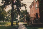 Bridgewater College, Walkway across front of Flory Hall, 10 July 1992 by Bridgewater College