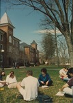 Bridgewater College, Dr. Lynn McGovern-Waite and her class outside Flory Hall, 4 April 1996 by Bridgewater College