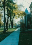 Bridgewater College, View down walkway in front of Flory Hall, undated by Bridgewater College