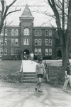 Bridgewater College, Students leave Flory Hall, undated by Bridgewater College