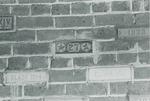 Bridgewater College class memorial bricks set in Founders' Hall entry, circa 1977 by Bridgewater College