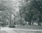 Bridgewater College, Founders' Hall with Wardo Hall and old gymnasium in background, undated by Bridgewater College