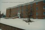 Bridgewater College, Geisert Hall in snow, 10 December 1992 by Bridgewater College