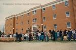 Bridgewater College, Crowd at Geisert Hall dedication, 5 April 1991 by Bridgewater College