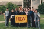 Bridgewater College, Heritage Hall Third Floor West students at commencement, 1990 by Bridgewater College