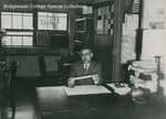 Bridgewater College Chemistry professor Dr. John Martin at his desk, 1960s by Bridgewater College