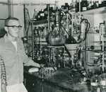 Bridgewater College, Leroy Baker in the chemistry laboratory, 1960s by Bridgewater College