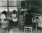 Bridgewater College, Students in a science classroom, circa 1959-1960s by Bridgewater College