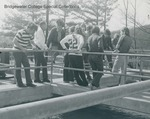 Bridgewater College, Students and a teacher at a water treatment plant, undated by Bridgewater College