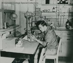 Bridgewater College, A student working in the chemistry lab, undated by Bridgewater College