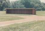 Bridgewater College, New dugout at Jopson Field renovation, June 1986 by Bridgewater College