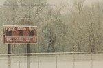 Bridgewater College, Baseball scoreboard in snow, 29 November 1995 by Bridgewater College