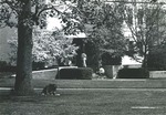 Bridgewater College, People at entrance and on lawn of Alexander Mack Memorial Library, 1982 by Bridgewater College