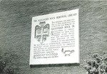 Bridgewater College, Alexander Mack Sr memorial plaque at Alexander Mack Memorial Library, undated by Bridgewater College