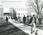 Bridgewater College, Students walking to and from the Alexander Mack Memorial Library, undated by Bridgewater College