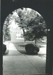 Bridgewater College, Alexander Mack Memorial Library south side from Flory Hall, undated by Bridgewater College