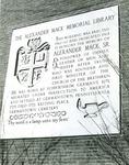 Bridgewater College, Alexander Mack Sr. Memorial Plaque at Alexander Mack Memorial Library, undated by Bridgewater College