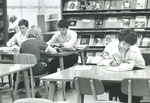 Bridgewater College, Students studying in the Alexander Mack Memorial Library, undated by Bridgewater College