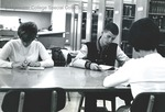 Bridgewater College, Greg Geisert (photographer), students studying in the Alexander Mack Memorial Library, circa 1970 by Greg Geisert