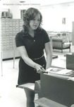 Bridgewater College, Alexander Mack Memorial Library student worker, circa 1972 by Bridgewater College