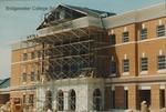 Bridgewater College, McKinney Center columns construction, June 1995 by Bridgewater College