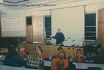 Bridgewater College, Biology professor L. Michael Hill shows McKinney Center to Turner Ashby High School students, 30 January 1997 by Bridgewater College
