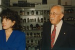 Bridgewater College, Sally Jane Conner and Russell Miller on his tour of the McKinney Center, 17 September 1996 by Bridgewater College