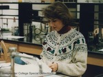 Bridgewater College, Student in a laboratory in the McKinney Center, undated by Bridgewater College