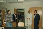 Bridgewater College, Congressman Bob Goodlatte with BC staff and unidentified men on a tour of McKinney Center, 22 August 1996 by Bridgewater College