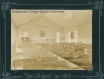 Bridgewater College, Matted photograph of the chapel in Stanley Hall (now Memorial Hall), 1915 by Bridgewater College