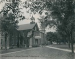 Bridgewater College, View down side of Memorial Hall to old gymansium, circa 1937 by Bridgewater College
