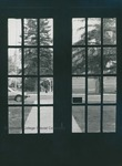 Bridgewater College, Looking out the Memorial Hall double doors to the the walkway in front of the Alexander Mack Memorial Library, 1980 by Bridgewater College