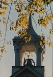 Bridgewater College, Lara Leahman (photographer), Memorial Hall belfry behind sunlit autumn leaves, 29 October 1990 by Lara Leahman