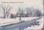 Bridgewater College, Memorial Hall and other old campus buildings in snow, Winter 1987 by Bridgewater College