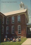 Bridgewater College, Dr. John G. Barr and music class outside Memorial Hall, 18 April 1996 by Bridgewater College
