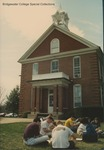 Bridgewater College, Class sitting on lawn outside Memorial Hall, 4 April 1996 by Bridgewater College