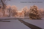 Bridgewater College, Leon Rhodes (photographer), View of Memorial Hall in snow from across East College Street, 6 April 1990 by Leon Rhodes