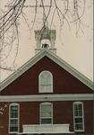 Bridgewater College, Lara Leahman (photographer), Memorial Hall behind snow covered branch, January 1991 by Lara Leahman