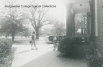 Bridgewater College, Students outside front of Memorial Hall with Cole Hall in background, undated by Bridgewater College